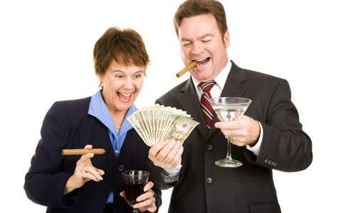 Greedy Business people